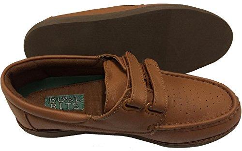 Para hombre Velcro Zapatos de bolos para hombre, color bronceado, Oferta Especial–Solo £ 18.99envío gratuito