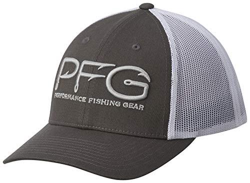 (Columbia PFG Logo Snap Back Ball Cap, Breathable, Adjustable)