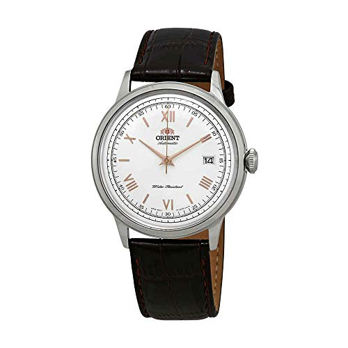 Orient Men's 2nd Gen. Bambino Ver. 2 Stainless Steel Japanese-Automatic Watch with Leather Strap, Brown, 21 (Model: FAC00008W0