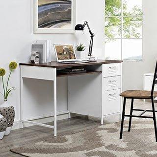 WE Furniture 48u0026quot; Metal Locker Style Desk With ...