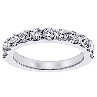 1.00 CT TW Split Prong Round Diamond Wedding Band in 14k White Gold
