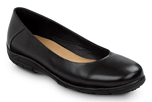 SR MAX Asheville Women's Soft Toe, Slip Resistant, Casual Flat (09.0 M) (Toe Slip Soft)