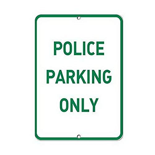 Tin Sign New Aluminum Metal Police Parking Only Parking Sign 11.8 x 7.8 - Tin Sign Only Parking