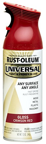 Rust-Oleum 247562 Universal All Surface Spray Paint, 12 oz, Gloss Crimson Red