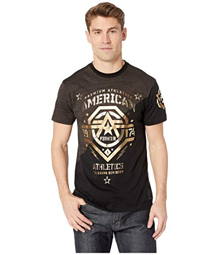- American Fighter Men's New Mexico Brown Black DT Short Sleeve Tee (XLarge)