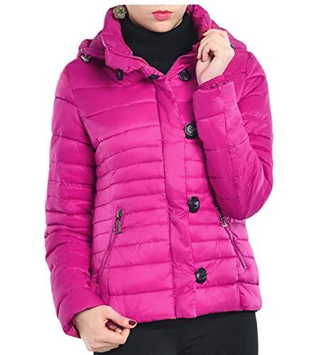 security Women's Lightweight Water-Resistant Packable Hooded Down Jacket 2