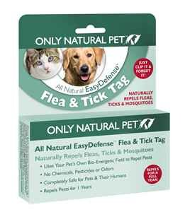 Only Natural Pet Easydefense Flea and Tick Control Collar Tag for Dogs and Cats - Natural Active Ingredients for Prevention, Control & Enhanced Defense by Only Natural Pet