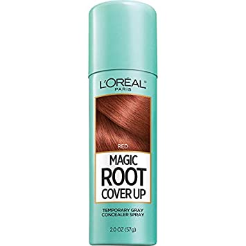 L'Oreal Paris Magic Root Cover Up Gray Concealer Spray Red 2 oz (Packaging  May Vary)