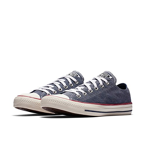 Converse Chuck Taylor All Star OX Unisex Sneakers Navy/Navy/White 159539f (5.5 D(M) US)