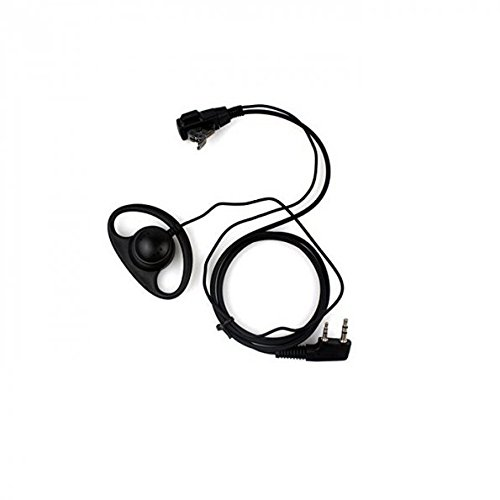 Generic Two Way Radio Earpiece Headphone, :D-Shape Headset for Baofeng TYT