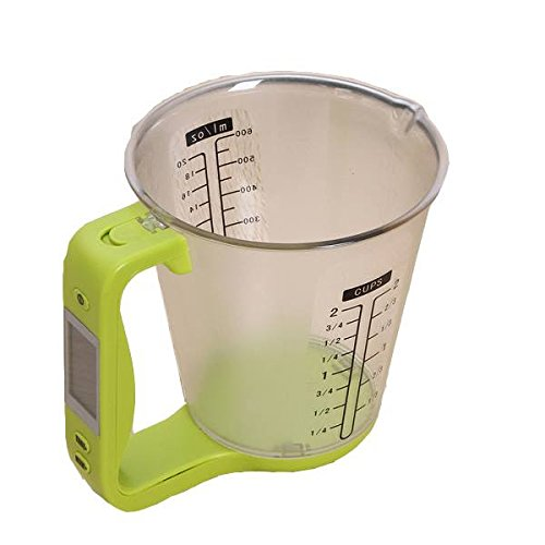 sudarathkshop Digital Electronic Measuring Cup Scale Jug Kitchen Scale Baking Tools (Green)