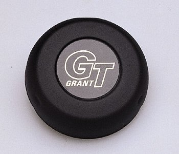 Grant Signature Series Horn Button - Grant 5897 Black Horn Button (GT Logo)
