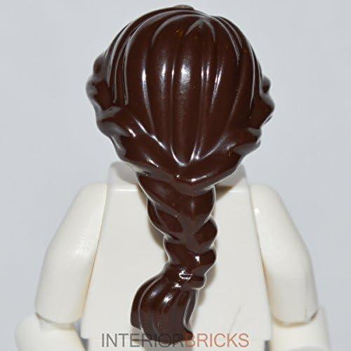 Lego Minifigure Hair Long Ponytail w// Fringe Black Female NEW