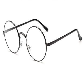 884fad9b60 XCYQ Montura De Gafas Gafas Redondas para Anteojos Gafas con Gafas  Transparentes Ópticas Mujeres Miopía Gafas Transparentes Ópticas, A:  Amazon.es: Deportes ...