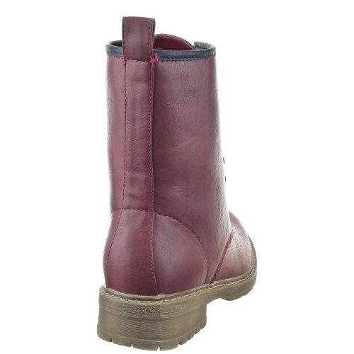 De Botas Moda Bloco Combate Botas Calcanhar Vermelho Sapatos Da De Das Salto Sopily Sapato Mulheres wqf8R