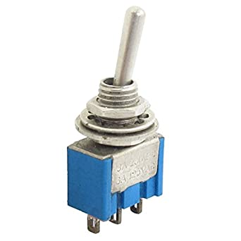 uxcell spdt on center off on miniature toggle switch ac 250v 3a 125v rh amazon com