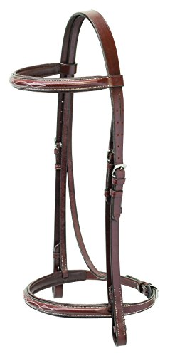 Weaver Leather English Bridle with Reins, Rich Brown, Full (English Bridle With Reins)