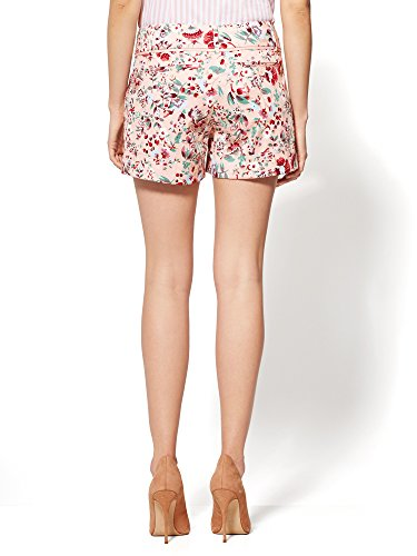 New-York-Co-Womens-7Th-Avenue-4-Short-Signature-Pink-Floral