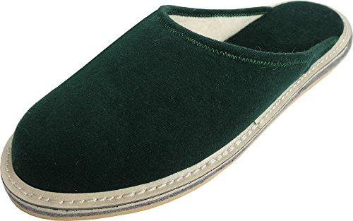 Lusy011 FILZ-Pantoffeln-Hausschuhe-Gr-43-43-5-WOLLFILZ-GRUN-Made-in-Poland