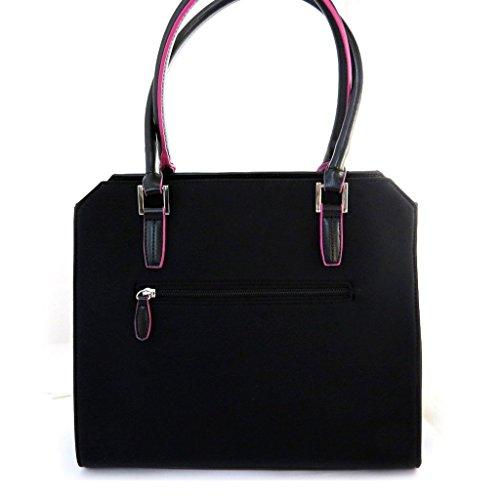 Bag 'Jacques Esterel'rosa schwarz.