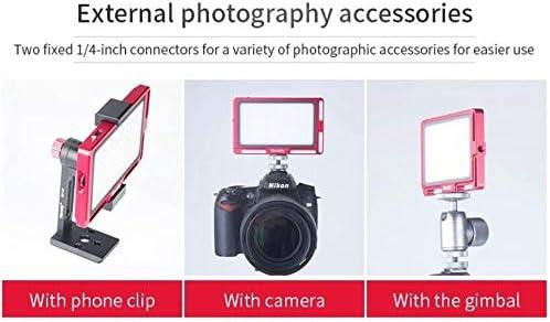 Titanium CRI96+//TLCI 95 Metal Frame with OLED Display Koolehaoda Mini LED Video Light Panel 4.5 Inch for Portrait Photography, Bi-Color 3000K-6500K Dimmable