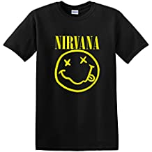 OCPrintShirts Men's Tee YELLOW Nirvana Smiley Face T-Shirt S-5XL