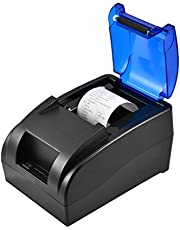 Thermal Printer, Bill Printer, USB Wireless Bluetooth Thermal Receipt Printer POS Printing for Supermarket Restaurant, Compatible with iOS Android Windows Linux, 90mm/s Speed, 58mm Label Width