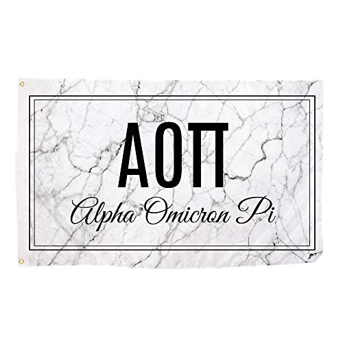 Alpha Omicron Pi Marble Box Letter Sorority Flag Banner 3 x 5 Sign Decor aoii Review