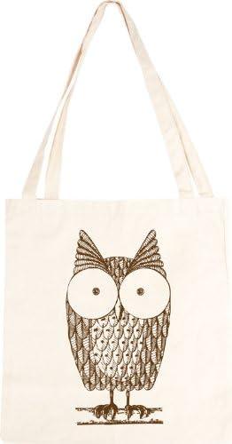 Cute Owl Cotton Tote Bag: Amazon.co.uk: Kitchen & Home