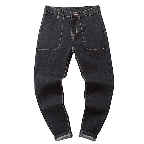 Pants For Men, Clearance Sale! Pervobs Men's Autumn Casual Vintage Loose Outdoors Sport Work Jeans Pants Trousers(36, Black) by Pervons Mens Pant