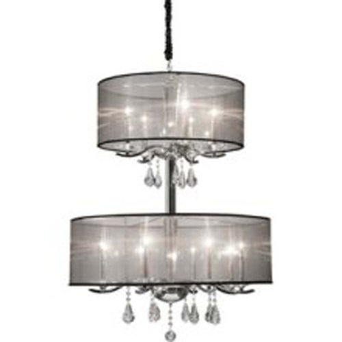 Artcraft Lighting Contessa 12-Light Chandelier, Chrome (Contessa 12 Light)