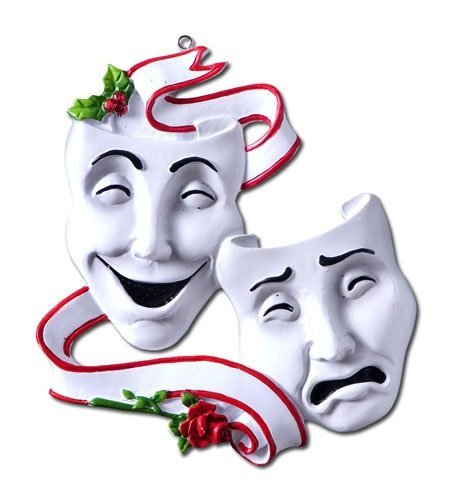 BuyGifts Theatre Drama Masks Ornament]()