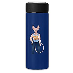 Elias The Sphynx Cat Frosted Business Vacuum Flask Stainless Steel Cup,Handy Water Bottle