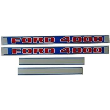 Amazon.com: Juego de adhesivos para Ford Tractor 5000 ...