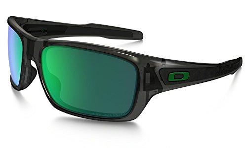 Oakley Men's Turbine OO9263-09 Polarized Iridium Rectangular Sunglasses, Grey Smoke, 65 - Oakley O Interchangeable Icons