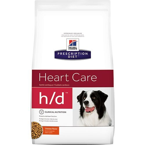Hill's Prescription Diet h/d Heart Care Chicken Flavor Dry Dog Food 17.6 lb