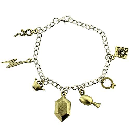 The 7 Riddle Diary Ring Goblet Locket Diadem Scar Snake Charm Bracelet Kyrarist-AC180