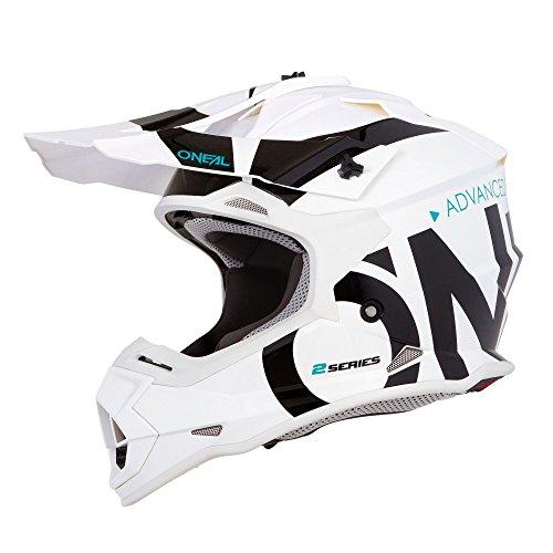 (O'Neal Unisex-Adult Off Road 2SERIES Helmet (Slick) (White/Black, Medium))