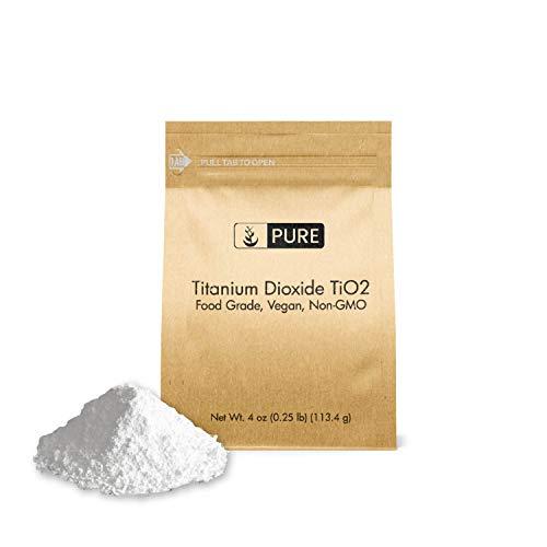 - Titanium Dioxide TiO2 (4 oz.) by Pure Organic Ingredients, Eco-Friendly Packaging, Non-Nano, Food & USP Grade, Vegan, Non-GMO