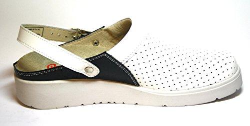 Berkemann - Zuecos de Piel para mujer Blanco blanco Blanco - Weiß (weiß/ocean 143)