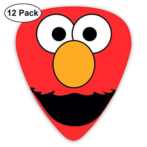 LiuYiFeii Sesame Street Elmo Face 12pcs Guitar Picks Rock Band Mix Guitar Picks Musical Accessories,Rock Band Guitar - Guitar Face Pick