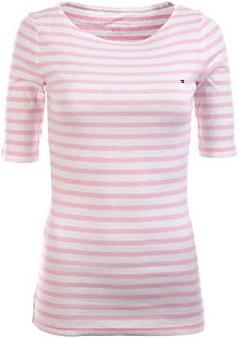 Tommy Hilfiger Women's Half Sleeve Striped T-shirt