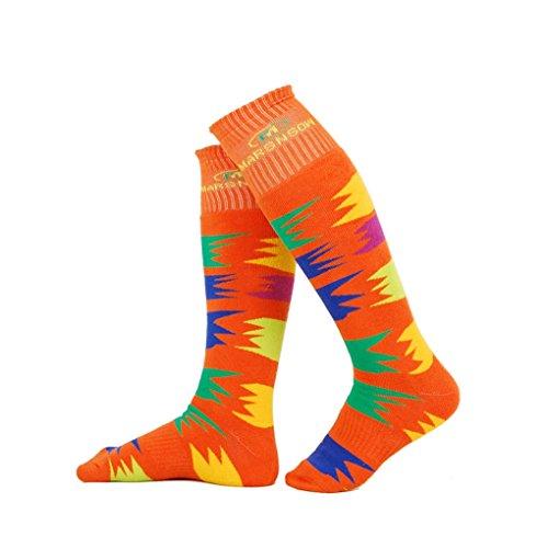 YDSocks Best Winter Knee High Trendy Workout Sport Compressioncolorful Men's Skiing Socks