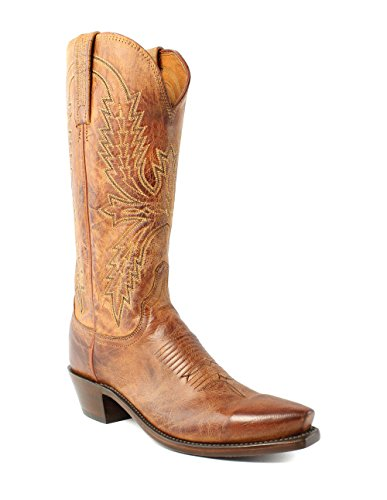 Lucchese N7697.54 Mens Peanut Brittle Mad Dog Goat Leather Cowboy Western (Western Peanut Brittle)