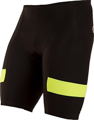 Pearl iZUMi Men's Escape Quest Splice Shorts, Black/Screaming Yellow, Small (Pearl Izumi Mens Running Shorts)
