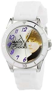 Justin Bieber Kids' JB1042  Round Case White Silicone Strap Watch