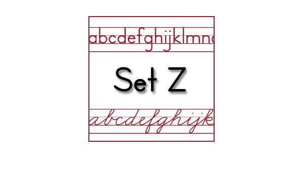 Workbook customizable handwriting worksheets : Amazon.com: Schoolhouse Fonts SmartFonts Set Z version 6 (Zaner ...