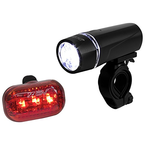 - BV Bicycle Light Set Super Bright 5 LED Headlight, 3 LED Taillight, Quick-Release