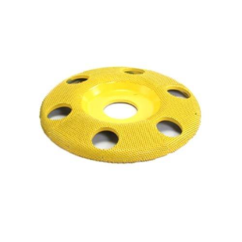 Fine Grit 7//8 Bore 4 Disc Wheel W//Holes Flat Face