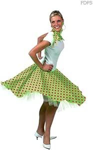 Desconocido Disfraz Falda Rock 'N' Roll en Verde Claro